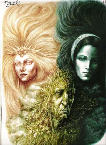 The Goddesses Eguzki, Ilargi & Lur