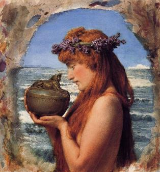 """Pandora "" by Sir Lawrence Alma-Tadema"